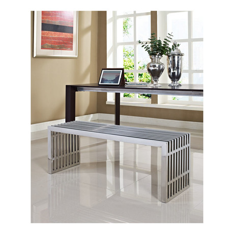 Modway // Gridiron Stainless Bench