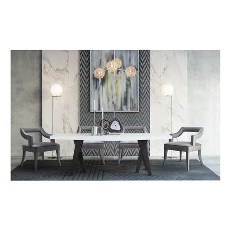 TOV // Tiffany Dining Chair // Gray