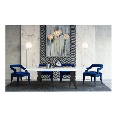 TOV // Tiffany Dining Chair // Navy