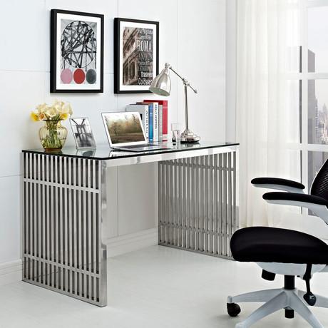 Modway // Gridiron Stainless Desk
