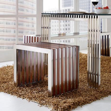 Modway // Gridiron Wood Inlay Stool