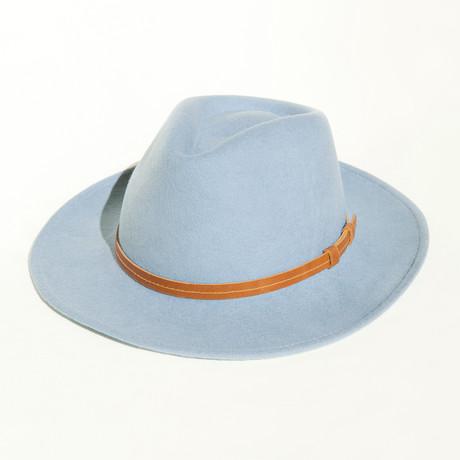 Houston // Light Blue + Leather Headband (S)
