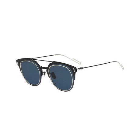 Women's Composit Sunglasses // Semi Matte Blue + Blue