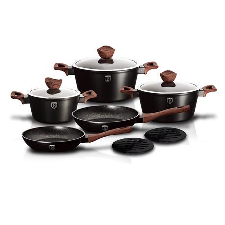 Ebony Rosewood Collection Cookware Set // 10pcs