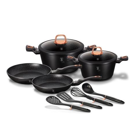 10-Piece Cookware Set // Black Rose