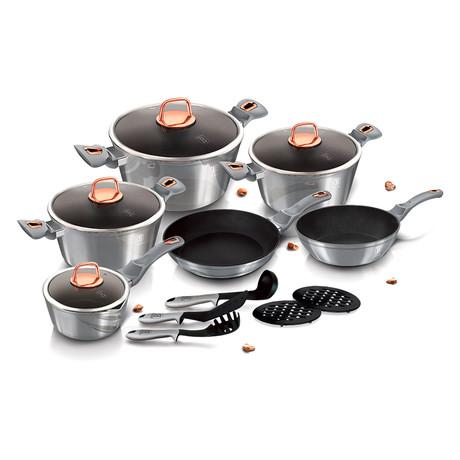 15-Piece Cookware Set // Gray