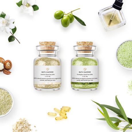 Jasmine 19 + Eucalyptus 19 Bath Salts Bundle
