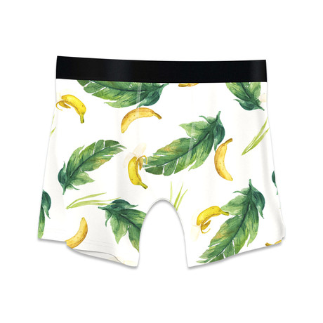 Men's Boxer Briefs // Bananas // Yellow + Green (M)