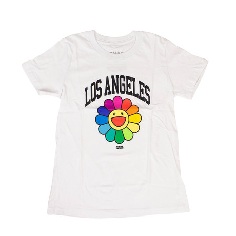 Takashi Murakami x Complexcon Kid's Los Angeles Flower T-Shirt // White (S)
