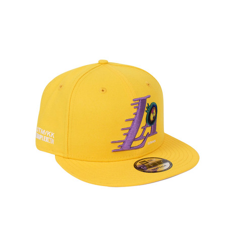 Takashi Murakami x Complexcon La Lakers Eye Snapback Baseball Cap // Yellow
