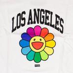 Takashi Murakami x Complexcon Kid's Los Angeles Flower T-Shirt // White (L)