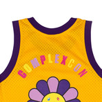 Takashi Murakami x Complexcon La Lakers Basketball Jersey // Yellow (L)