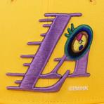Takashi Murakami x Complexcon La Lakers Eye Snapback Baseball Cap // Yellow