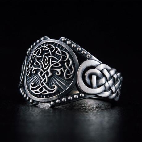 Viking Yggdrasil Ring // Silver (6)
