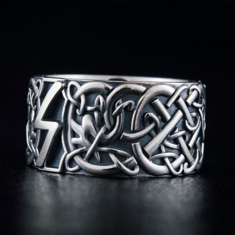 Scandinavian Sowelu Rune Ring // Silver (6)