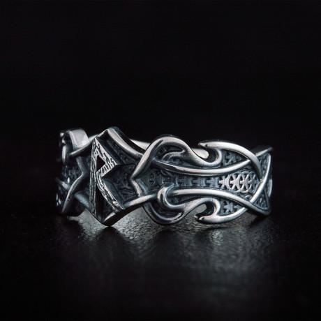 Norse Raido Rune Ring // Silver (6)