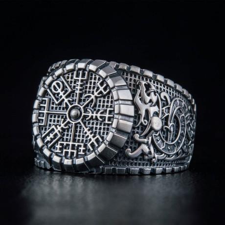 Viking Vegvisir Ring // Silver (6)