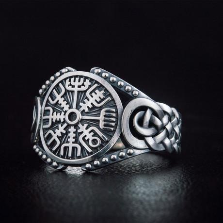 Vegvisir Viking Ring // Silver (6)