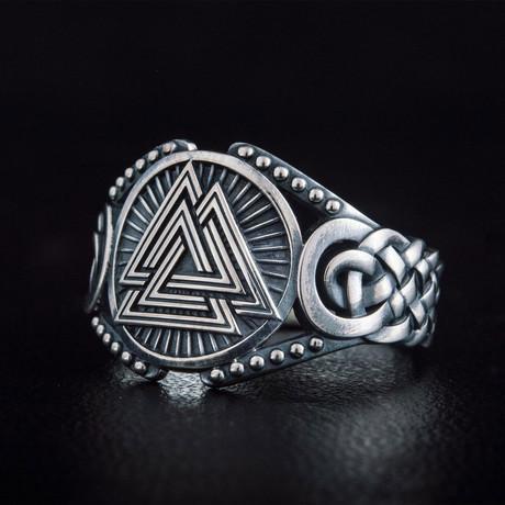 Valknut Viking Ring // Silver (6)