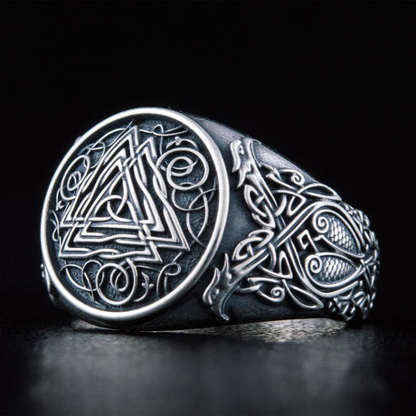 Viking Valknut Ring // Silver (6)