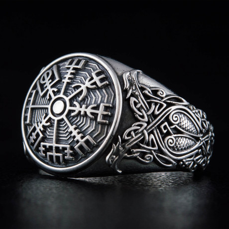 Scandinavian Vegvisir Ring // Silver (6)