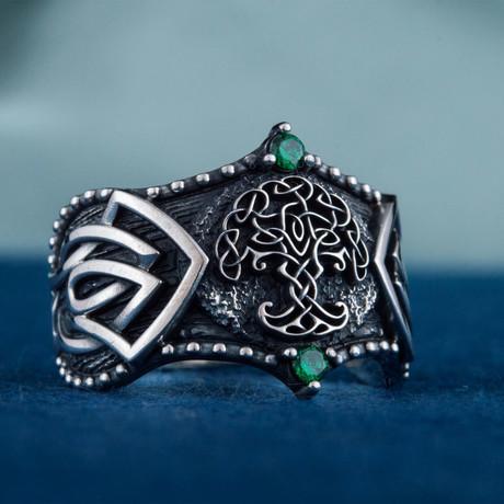 Norse Yggdrasil Ring // Silver (6)