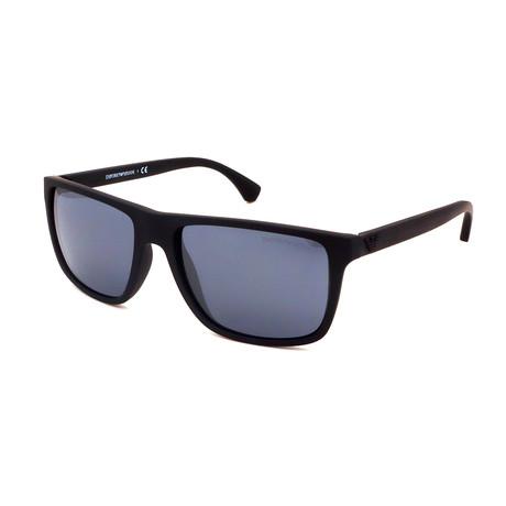 Emporio Armani // Men's EA4033-56496Q Polarized Sunglasses // Matte Black + Silver