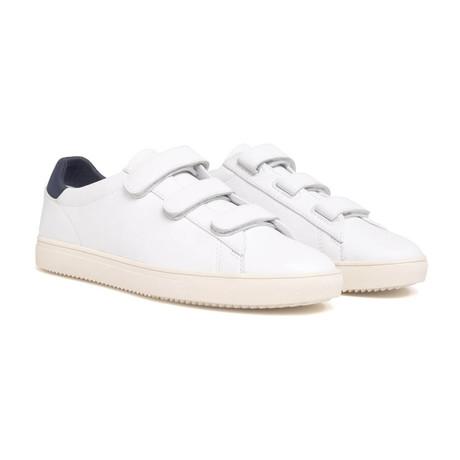 Bradley Velcro Sneaker // White Milled Leather (US: 7)