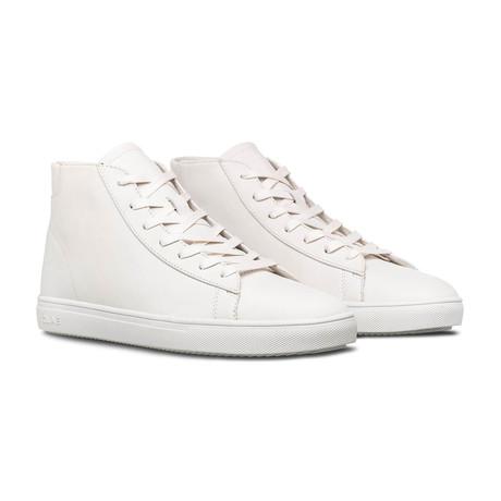 Bradley Mid Sneaker // Triple White Leather (US: 7)