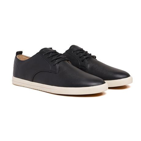 Ellington Leather Sneaker // Black Milled Tumbled Leather (US: 7)