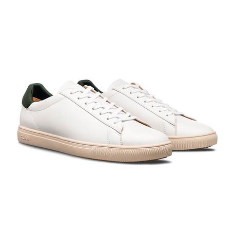 Bradley Sneaker // White + Olive Vegan (US: 7)