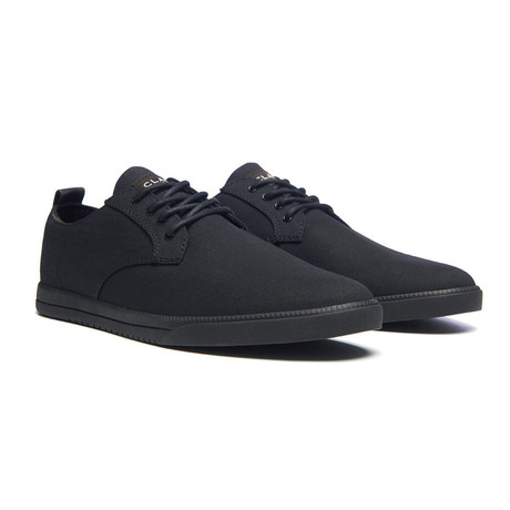 Ellington Textile Sneaker // Black Waxed Canvas (US: 7)