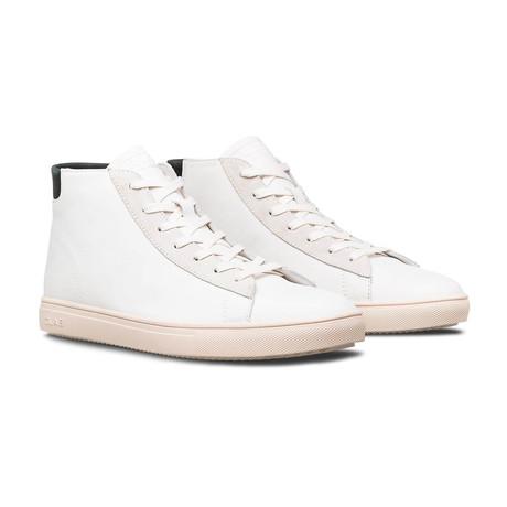 Bradley Mid Sneaker // White Leather + Black (US: 7)