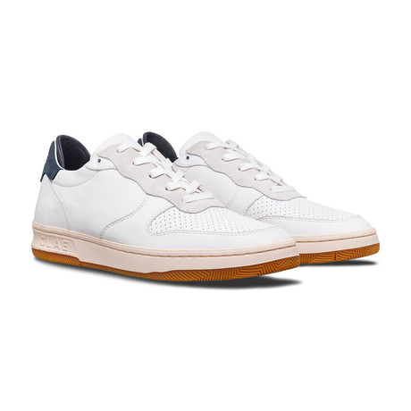 Malone Sneaker // White Milled Leather + Navy (US: 7)