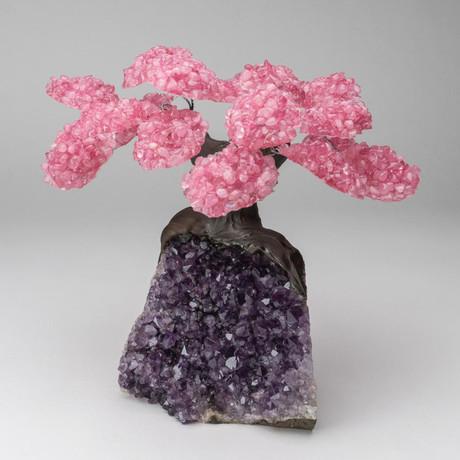 The Love Tree // Custom Rose Quartz Tree + Amethyst Matrix // V5