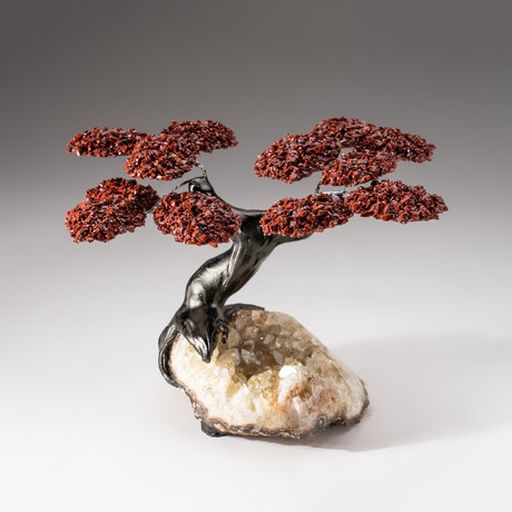 The Safety Tree // Custom Red Jasper Tree + Citrine Matrix // V5