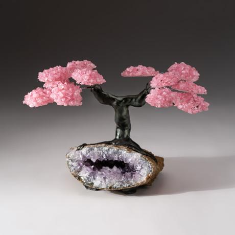 The Love Tree // Custom Rose Quartz Tree + Amethyst Matrix // V4