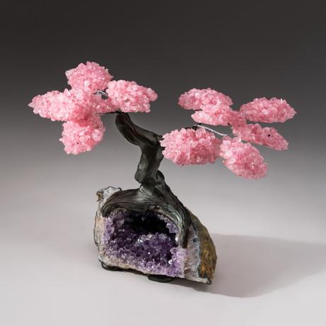 The Love Tree // Custom Rose Quartz Tree + Amethyst Matrix // V3