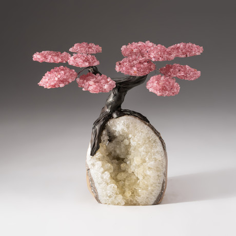 The Wellness Tree // Custom Rose Quartz Tree +  Quartz Matrix