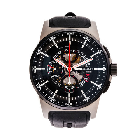 MOMO Design Pilot's Chronograph Automatic // MD276-RB-04BKSK // New