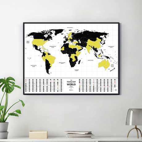 World Travel Map // Glow In The Dark