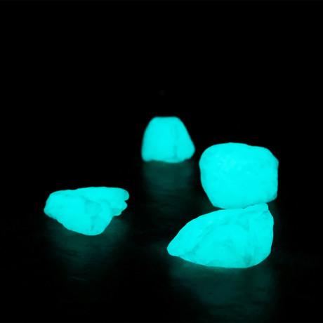 Quantum Glow-In-The-Dark Marble Stones // 8-15mm (Aqua Blaze)