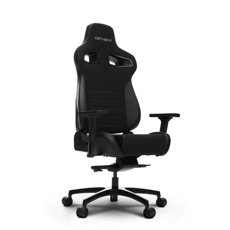 Racing Series P-Line Coffee Fiber Gaming Chair (Black)