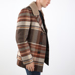 Dante Coat // Ecru + Brick (XS)