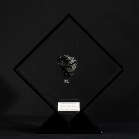 Sikhote Alin Meteorite // Siberia // Black Acrylic Display // Ver. 1