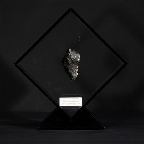 Sikhote Alin Meteorite // Siberia // Black Acrylic Display // Ver. 4