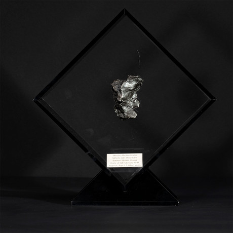 Sikhote Alin Meteorite // Siberia // Black Acrylic Display // Ver. 5