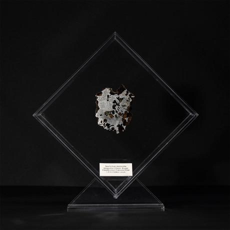 Seymchan Olivine Meteorite // Magadanskaya Oblast // Transparent Acrylic Display // Ver. 1