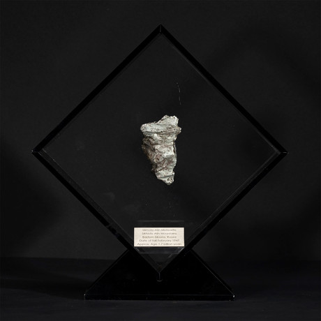 Sikhote Alin Meteorite // Siberia // Black Acrylic Display // Ver. 3