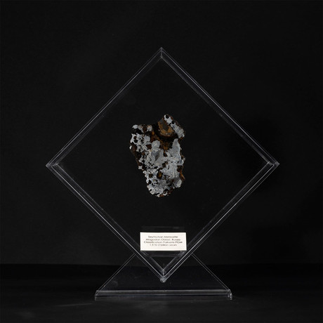 Seymchan Olivine Meteorite // Magadanskaya Oblast // Transparent Acrylic Display // Ver. 2